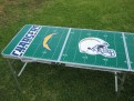 GoPong 8 foot Football Field Chargers Left side