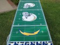 GoPong 8 foot Football Field Chargers long view