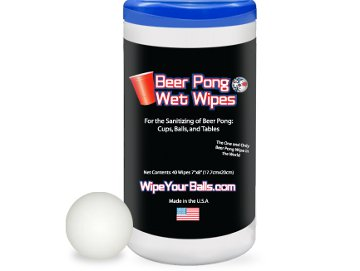 Beer Pong Wet Wipes