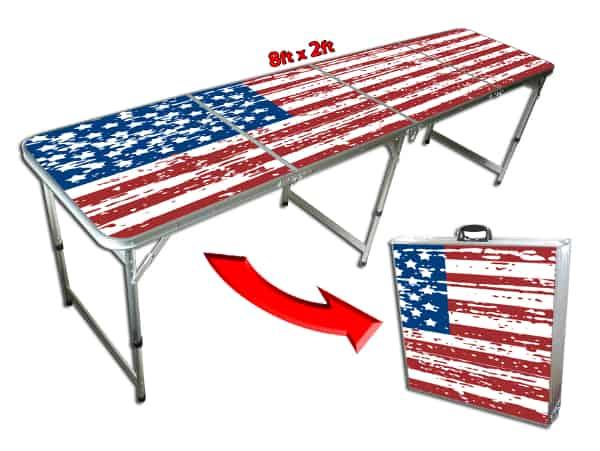 GoPong American Flag Beer Pong table