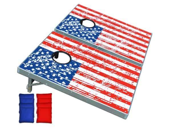 GoPong American Flag Cornhole Set