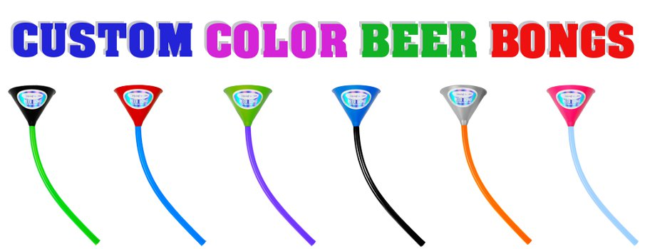 Custom Color Beer Bongs