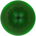 Green disc turned on