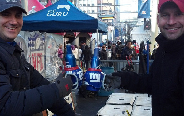 Giants Fans with FanMug
