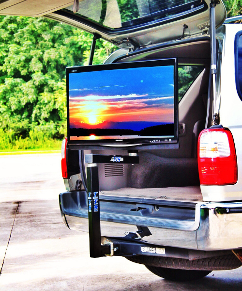 tailgate tv stand. Black Bedroom Furniture Sets. Home Design Ideas