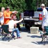 Tailgate TV Stand Tailgate Down Model