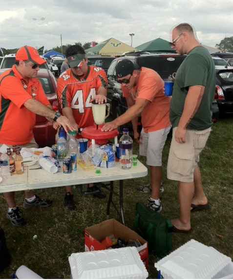 Daiquiri Whacker Tailgating Blender at a Miami Hurricanes tailgate party