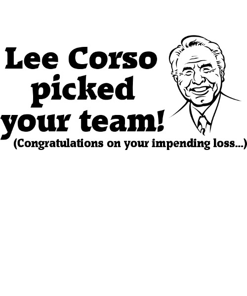 Close up of Lee Corso T-Shirt design