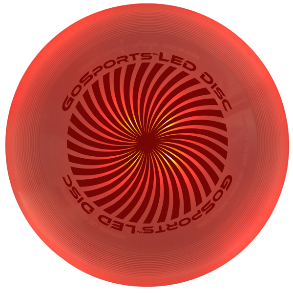 Red disc turned on