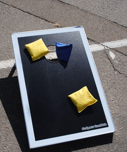 Bags on board at Stadium parking lot