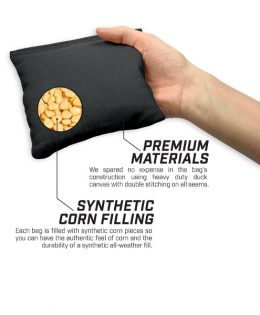 Premium Cornhole bags with synthetic corn kernels