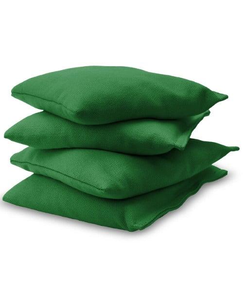 Dark Green Cornhole bags stacked