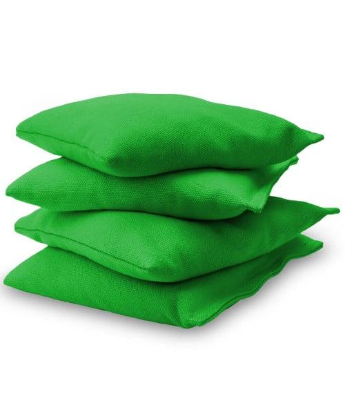 Light Green Cornhole bags stacked