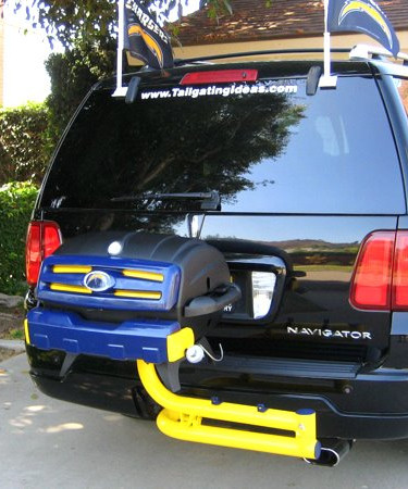 Chargers custom tailgating grill